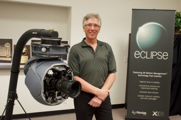 Mark Chamberlain  Pictorvision CEO with the Mini-Eclipse