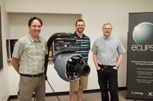 From left to right - Marcel Verner, Brian  Perry and Mike Lewis CTO of PV Labs